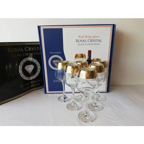Royal Crystal boros pohár szett 6db