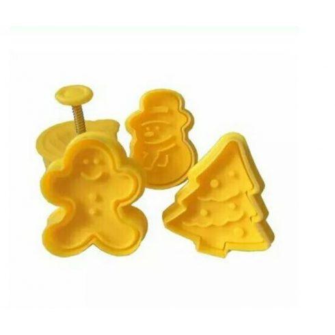 4 db-os karácsonyi keksz készítő sárga