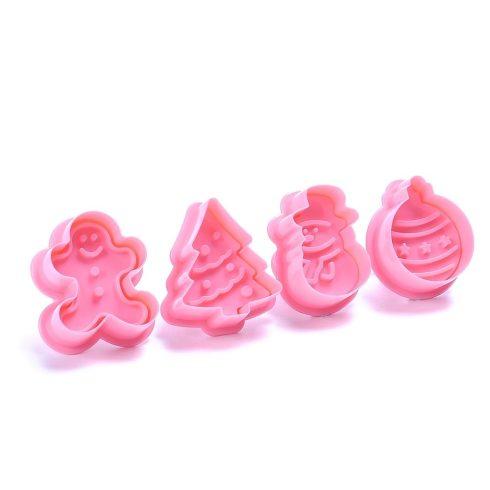 4 db-os karácsonyi keksz készítő rózsaszín